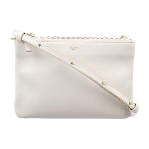 Celine Bags - New CELINE PARIS Leather TRIO Crossbody Bag Purse
